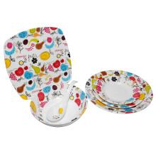 La décoration de fruit de mélamine place la vaisselle / vaisselle 100% de mélamine