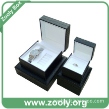 PU Leather Watch Gift Box / Black Ring Box / Jewelry Packaging Box