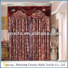 Nuevos diseños de la cortina Producto de la manera Pequeña cantidad orden cortinas estilo de país
