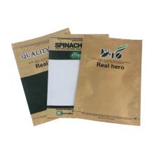 Bolsas de plástico con cierre de tres lados y papel de aluminio