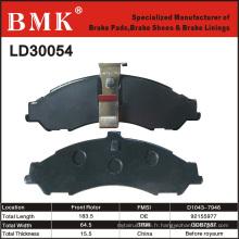 Plaquettes de frein avancées et respectueuses de l'environnement (LD30054)