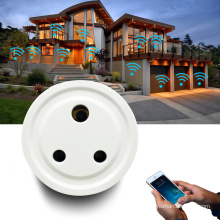 10A 3 Pin India Indian South Africa Smart Plug Wifi Controlled CE ROHS Smart Socket Plug Power Outlet