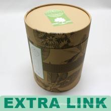 Antike Runde Handwerk Papier benutzerdefinierte Logo Karton Lunchbox
