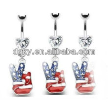 Christmas decoration belly ring navel button jewelry