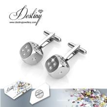 Destiny Jewellery Crystal From Swarovski Dice Cufflinks