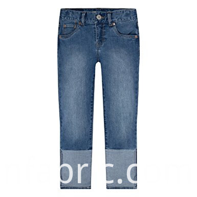 553wholesale Child Clothing Soft Boys Denim Capri Pants