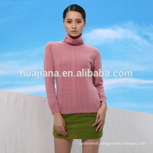 2016 new design woman's turtleneck sweater