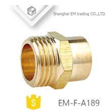 EM-F-A189 Messing Doppel-Pass-Außengewinde Schlauchanschluss Rohrverschraubung