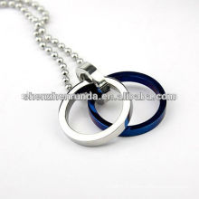 316l Two - loop fashion Stainless steel pendant necklace Manufacture