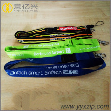 nylon security silkscreen football custom lanyard