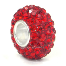 AAA CZ Stone Clay Paved Big Hole European Style Crystal Beads DIY European Loose Beads Charms