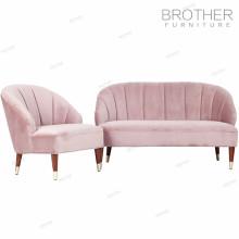 Sofa de vente chaude définit pour le sofa moderne de sectionnement de velours de salon