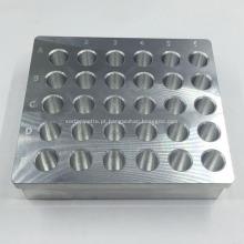Módulo de aquecimento fazendo à máquina de alumínio feito sob encomenda do tubo de centrifugador