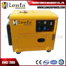 5kw малого домашнего использования тихий дизельный генераторы