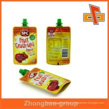 Hiqh Qualität Plastikbeutel mit Ausguss, Saftbeutel mit Eckauslauf für Verpackung