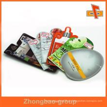 Kundenspezifische freie Formtasche Plastikverpackungsbeutel für Gesichtsmaskenverpackung
