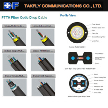 FTTH Drop Cable Optic Fiber Cable with Good Factory Price