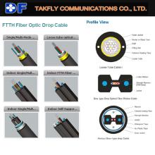 Кабель оптического волокна FTTH Drop Cable с хорошей заводской ценой