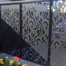 Customized Laser Cut Outdoor Metal Screen