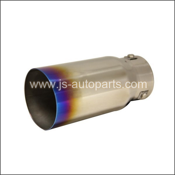 INLET 2.875 OUTLET3.5 STRAIGHT CUT W NO RESONATED TITANIUM BURNT EXHAUST TIP