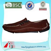 Alta moda plana sapatos de couro Casual