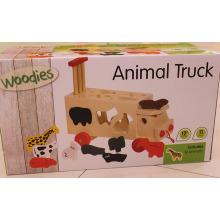 Wooden Animal Shape Sorter Toy Truck