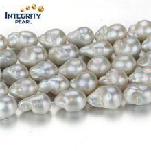 Perle de perles en eau douce Forme irrégulière nucléaire de 12 mm de classe AA Strass