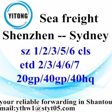 Shenzhen Sea Freight Services d'expédition à Sydney