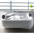 White Acrylic Luxury Corner Freestanding Soaking Bathtubs