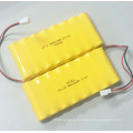 PKCELL NI-CD AA 600mah 9.6V Rechargeable Battery Pack with Tape