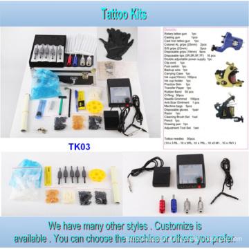 Atacado mais barato 3 arma tipo tatuagem Kit para venda Tk03