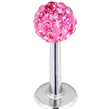 Ferido Crystal Top Labret Monroe Lip Bar
