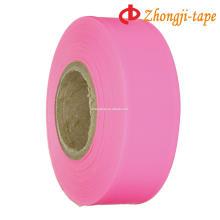 pink pvc flagging warning tape