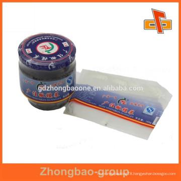 palstic bottle PVC shrink sleeve with customer's logo print for labeling