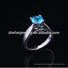 2015 schöne Hochzeit Geschenk Sterling Silber Ring halb montiert