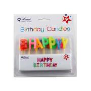 Renkli kutlu olsun mektubu şekil doğum günü mumu