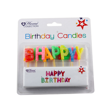 Berwarna-warni Happy Birthday Letter Shape Birthday Lilin