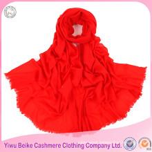 Wholesale cheap winter women red chevron plain 100% cashmere scarf