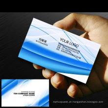 Cartões transparentes plásticos do nome de negócio