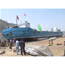 On May 19th 1999 workboat launched by airbag transverse launching technology