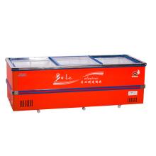 1161L Sliding Door Deep Cabinet Island Freezer for Supermarket