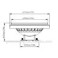 Alta qualidade por atacado de baixo preço 11 W 15 W 2700 k 3000k 4000k 30 / 60degaree acabamento De Alumínio G53 / GU10 CE AR111 Holofotes