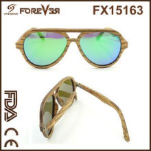 2016 Wholesale Sales of The New Design High Quality UV 400ce Polarized Wooden Sunglasses