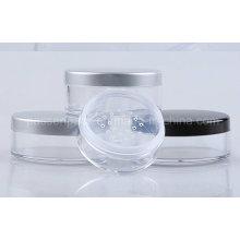 30g klare runde Kunststoff-Make-up-Glas mit rotierenden Sichter (PPC-LPJ-007)