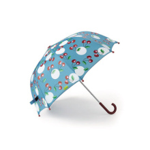 Manual Abra la impresión de cereza Straight Lady Umbrella (BD-66)