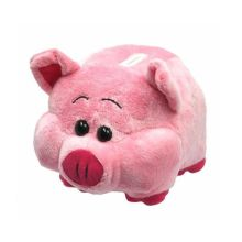 Classic upright ears pink piggy bank plush toys