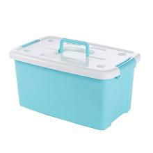 Récipient de boîte de rangement en plastique avec poignée pour le stockage (SLSN015)