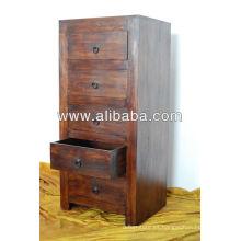Cofre de madera sheesham de cajón