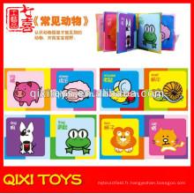 Fabriqué en Chine doux livre livre animaux tissu livre de noms de bébé