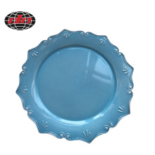 Ceramic Lace Effect Plastic Charger Plate